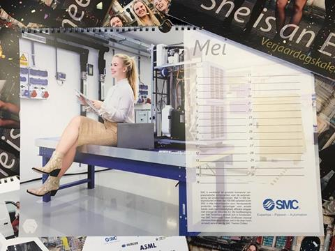 SMC op 2018 editie van She is an Engineer kalender TU Delft